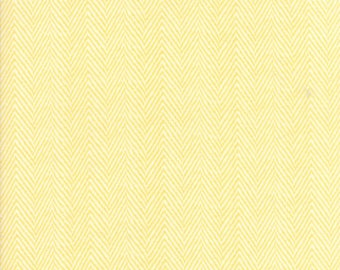 Hazel and Plum - Herringbone in Sunset Yellow: sku 20295-14 cotton quilting fabric by Fig Tree and Co. for Moda Fabrics