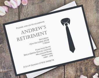Retirement Invitation Personalised Invite  / Digital Custom Party Invitations / Work