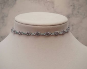 lilac Rose choker necklace