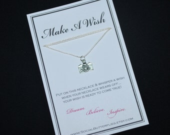 Camera Photographer Wish Necklace - Buy 3 Items, Get 1 Free