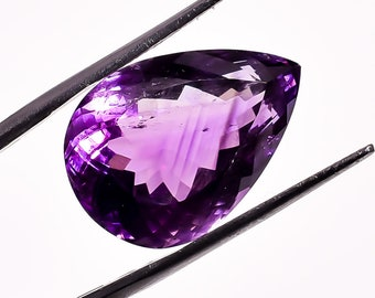 20.6 Ct. 100% Natural Amethyst Oval Faceted Loose Gemstone 21X15X12 mm HB-977