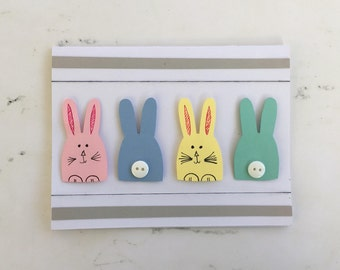 Easter Greeting Cards - Easter Cards, Easter Bunny Cards, Easter Greeting Card, Holiday Cards, Handmade Easter Cards, Custom Greeting Cards