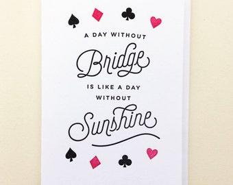 Bridge & Sunshine Single Letterpress Card