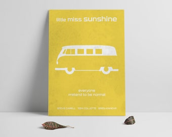 Movie poster print,Minimalistic movie poster print,Little Miss Sunshine movie poster,Printable files,Film art,Digital Instant Download