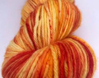Just Peachy-Hand Dyed DK Weight Yarn-75/25 SW Merino/Nylon