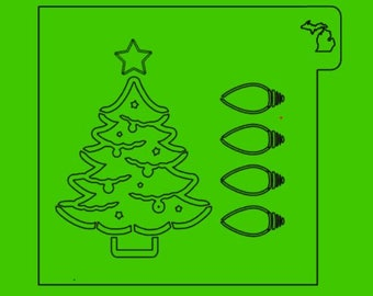 PYO Christmas Tree, Paint Your Own, Christmas, Cookie Stencil, Paint