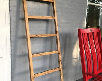 "6ft x 21 ""Kennedi Collection"" Rustic Ladder- Hand Crafted in USA"