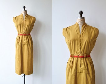 Topace cotton dress | vintage 1950s dress | cotton 50s dress