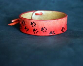 Bracelet Genuine leather Cat