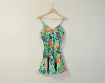 Floral Print Slip, Vintage 90s Slip, Victorias Secret Slip, Embossed Satin Slip, Floral Print Nightie, Vintage Nightgown, Floral Slip Dress