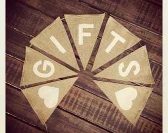 Rustic Wedding GIFTS Bunting Banner