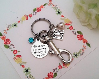 Mother of Groom Gift Mother In Law Gift from Bride Thank you for Raising the Love of my Life Key chain Mother of the Groom Gift from Bride