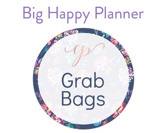 Grab Bags / Bill Due Stickers / Big Happy Planner Stickers / Planner Stickers / Overstock Stickers / NO COUPONS