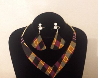 Set necklace and earrings African