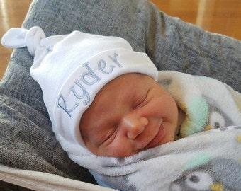 Personalized newborn baby hat baby girl baby boy