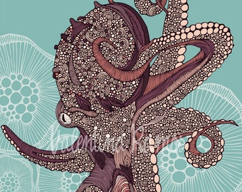 Octopus bloom - print