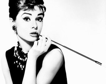 Audrey Hepburn Breakfast at Tiffany's Art Print Poster - French, Vintage, Art Deco