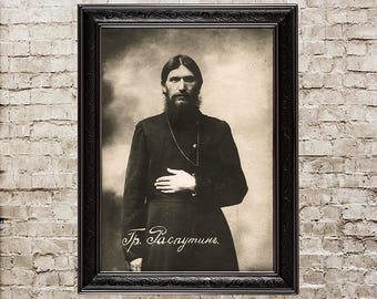 Rasputin, old photo, vintage decoration, mystic, mystic art, Russia, historical, historical print, historical poster, vintage wall art, 439
