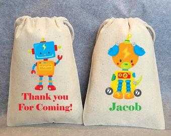 "10- Robot Party, Robot Birthday, Robot party supplies, Robot Birthday party, Robot party favors, Robot party favor bags. 4""x6"""