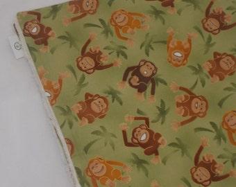 Green Monkeys Chenille Receiving Stroller Blanket  - SALE