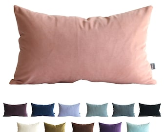 Kdays Faux Suede Pillow Cover 12x20 Inches Ash Pink Decorative For Couch Throw Pillow Handmade Cushion Covers  Faux Leather Pillow Cover