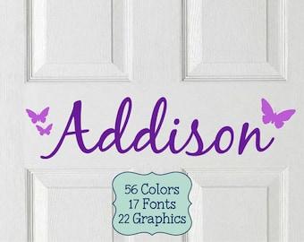 Kids Door Vinyl Decal, Kids Name Sticker, Kids Door Sign, Bedroom Door Decal, Kids Room Door Sign, Kids Door Name