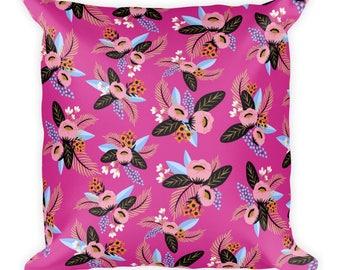 Rebecca Floral Print Square Pillow