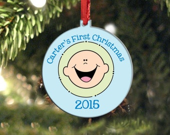 Baby's First Christmas Ornament, boy first christmas ornament, snowman first christmas ornament, personalized child ornament