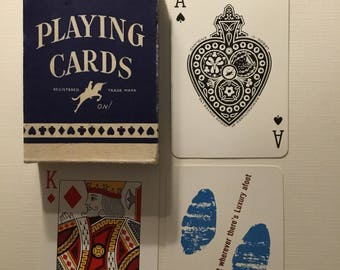 Commercial company, Velmar, Plastic coated, playing cards.