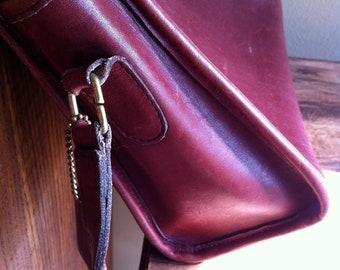 Coach vintage purse rust brown cross body