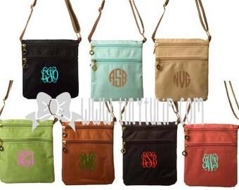 Monogrammed Nylon Crossbody Messenger Bags