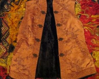 Reversible Asian Fur/Silk Brocade Vest