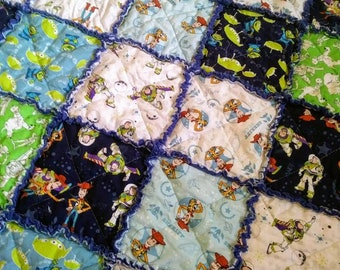 Custom Made Toy Story Rag Quilt