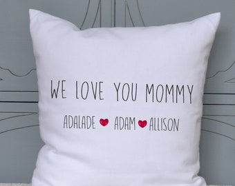 Mothers Day Pillow for Mommy from her children, Mom Personalized Pillow, Gift for her