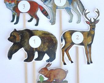 Woodland Animal Table Numbers / Wedding Table Numbers