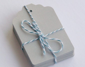 """GIFT TAGS blank 25pcs. Med GRAY 2 11/16"""",blank gift tags/23sweets/gift tag/wedding/rustic/party/hang tags/scrap booking/paper supplies"""