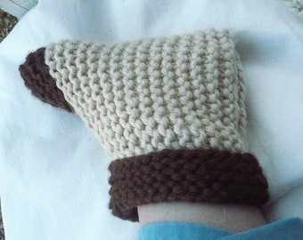 Bed Slippers, house slippers, warm slippers, toasty warm, beige, brown