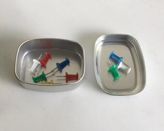 50ml Metal Tin Box, Small Tin Box, Small Storage Box, Small Organizer, Small Metal Container, Set Of 100 Tin Boxes