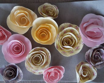 Plain paper and floral flowers