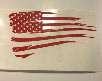 Tattered Flag Decal