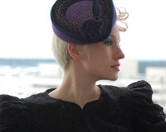 Eggplant Miniature Victorian Riding Hat