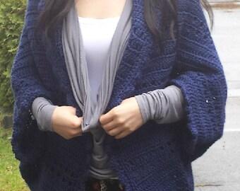 Easy Peekaboo Eyelet Crochet Shrug Pattern