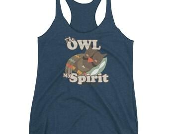 Owl Hoot Spirit Animal Totem Archetype Nightowl Pillow Sleep Tank Top