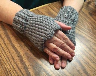 Fingerless Gloves, Gray Fingerless Gloves, Pink Fingerless Gloves