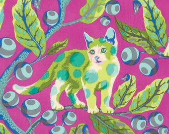 Disco Kitty in Berry Bird by Tula Pink