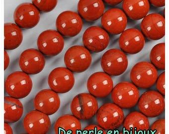 10 pcs-choose size: 4mm / 6mm or 8mm red Jasper bead semi precious stone bead 6mm red Jasper bead 8mm red Jasper