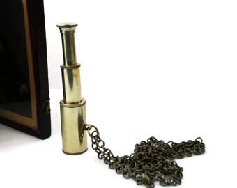 Steampunk Telescope Necklace - I SPY - Mens Womens Unisex Gift Pirate Nautical Brass Bronze Etsy UK