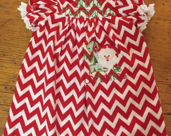 Appliqued and Monogrammed Christmas Gown