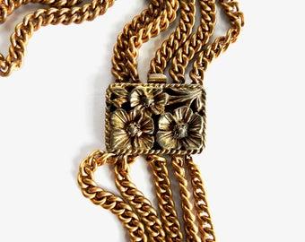 Antique Victorian Brass Chain Necklace