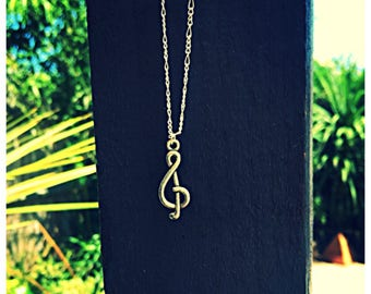 Music Note Necklace With 925 Silver Necklace. Gift Bag Packaged.